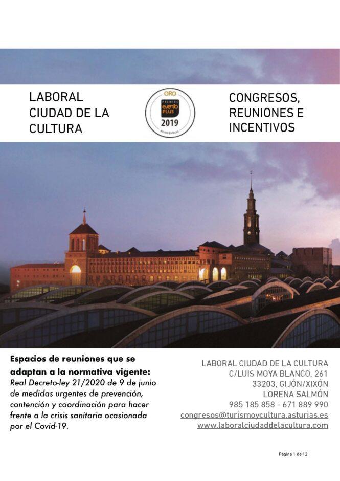 Portada LABORAL CONGRESOS COVID-19