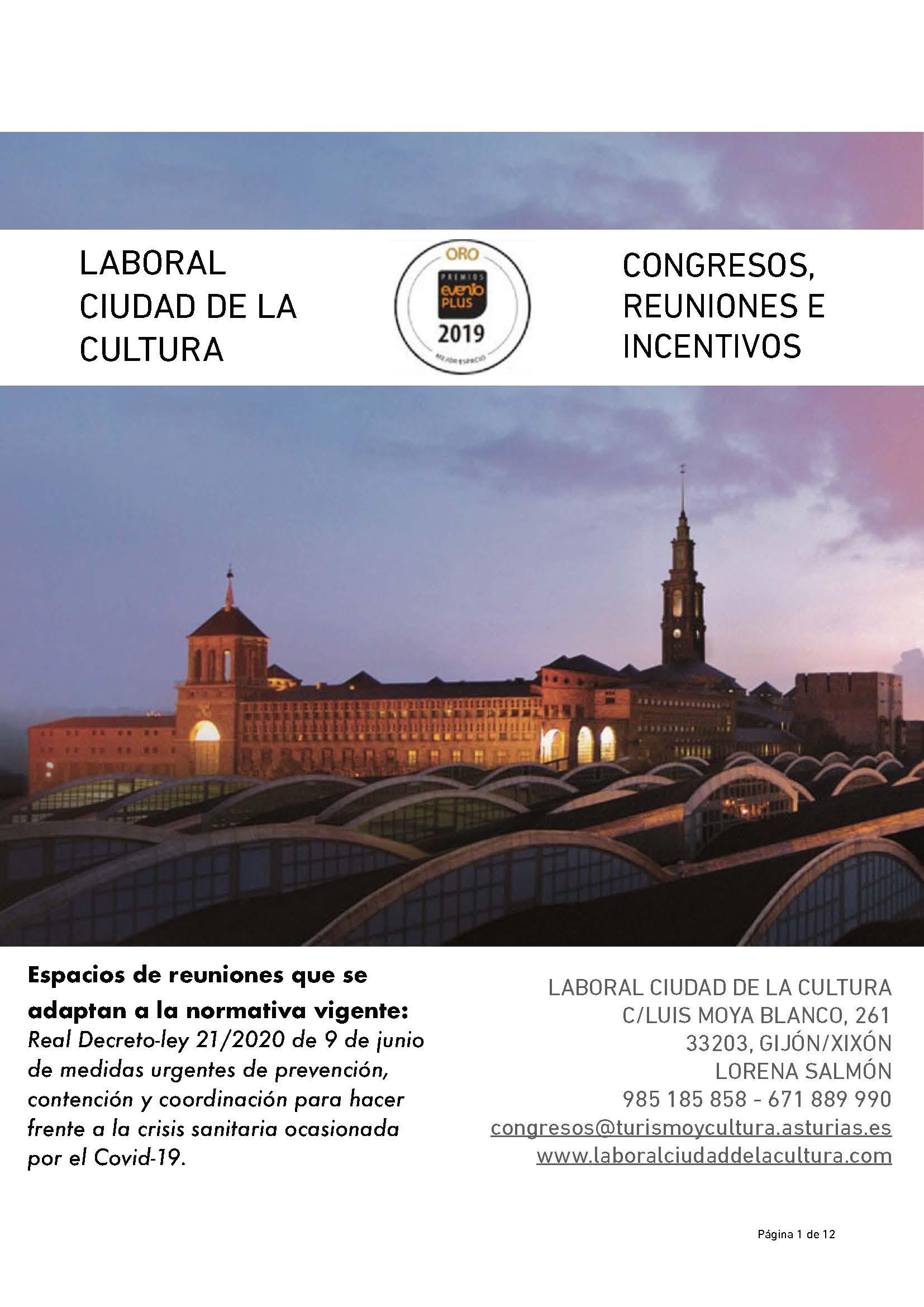 CONGRESOS, REUNIONES E INCENTIVOS RESPONSABLES EN LABORAL CIUDAD DE LA CULTURA